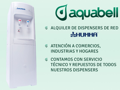 alquiler dispenser frío calor para red agua potable aquabell