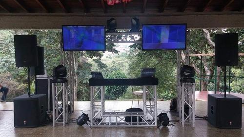 alquiler dj,sonido,luces,pantallas pistaled,robot led tarima