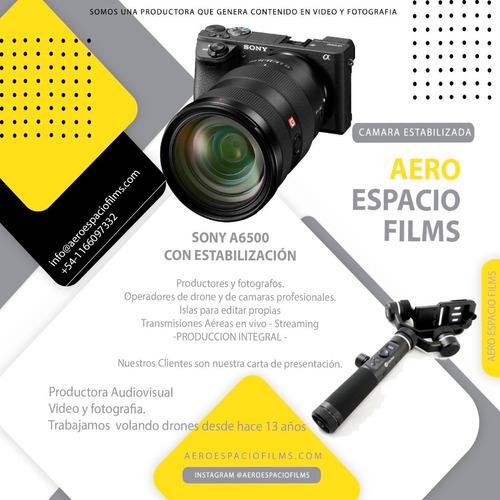 alquiler drone y cámaras video fotografia ediciones