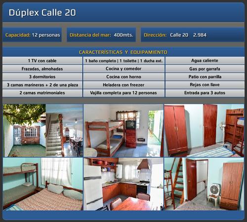 alquiler duplex y departamentos 12 personas san clemente