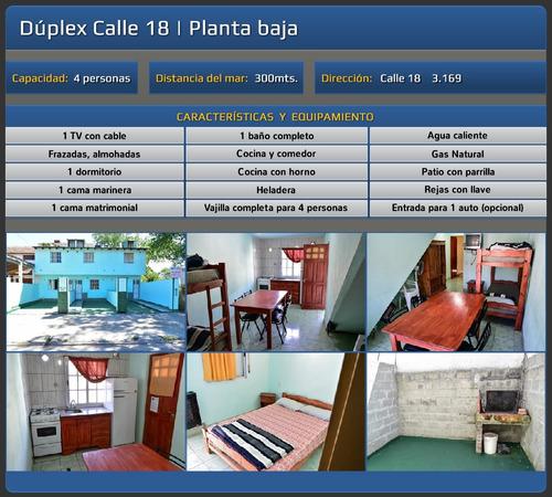 alquiler duplex y departamentos 4 y 5 personas san clemente