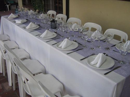 alquiler en berazategui mesas-sillas-vajilla-manteleria