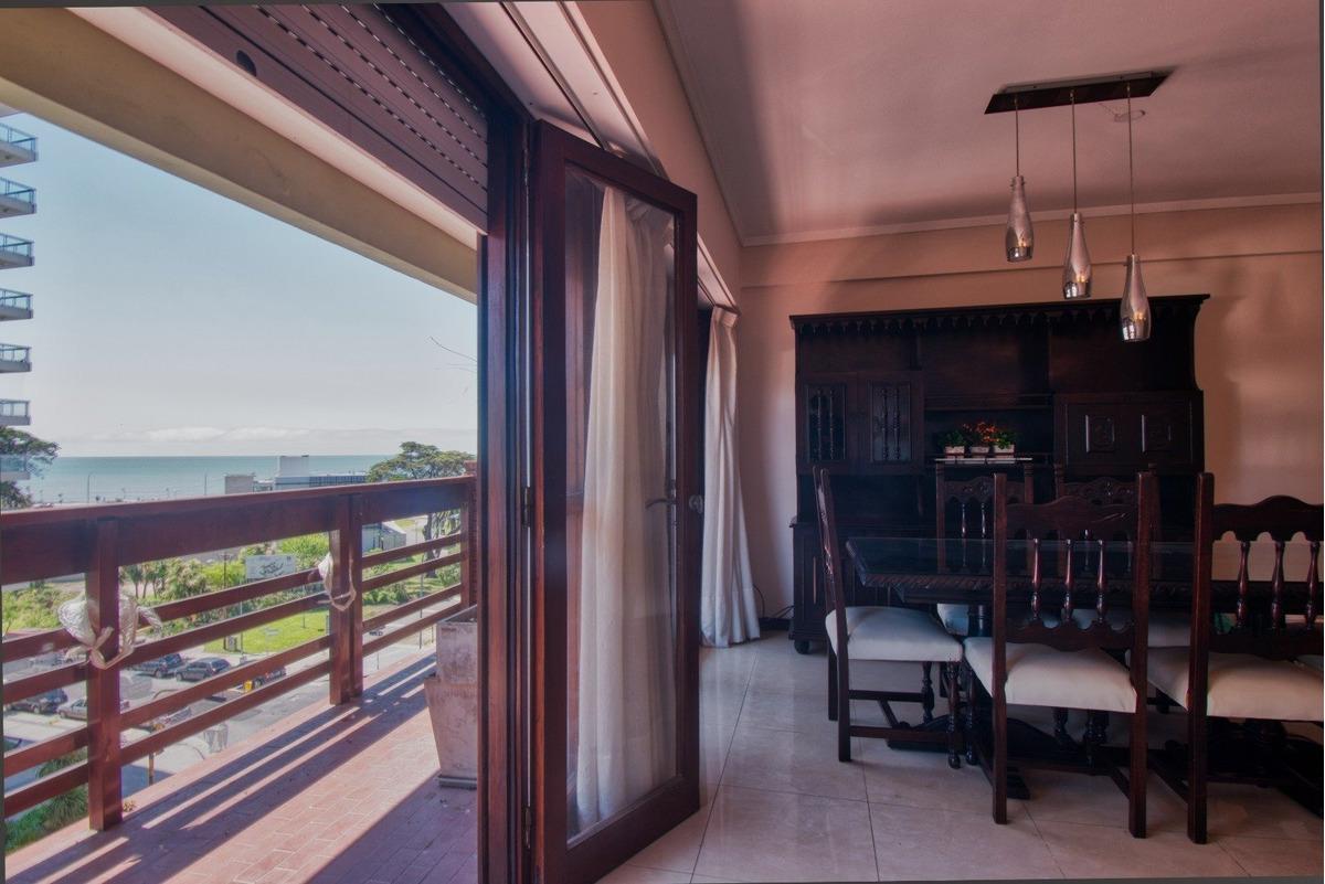alquiler en la perla - departamento 3 ambientes con vista al mar y cochera