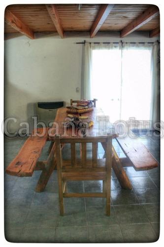 alquiler en villa ventana - cabaña lotus - visite la comarca