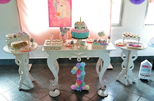alquiler equipamiento y bases para candy bar/mesa dulce y té