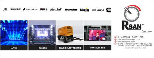 alquiler equipo de sonido, luces y grupo electrógeno