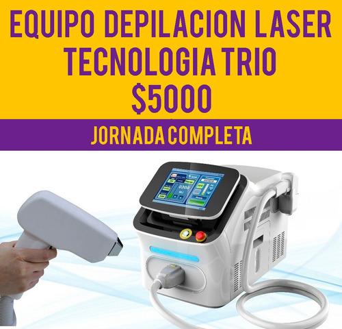 alquiler equipo portatil depilacion definitiva laser trio