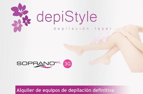 alquiler equipos depilación definitiva laser soprano xl 3g