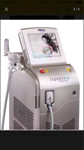 alquiler equipos soprano ice- alma laser