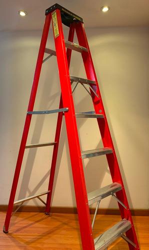alquiler escalera fibra de vidrio certificada 5, 6 y 7 pasos
