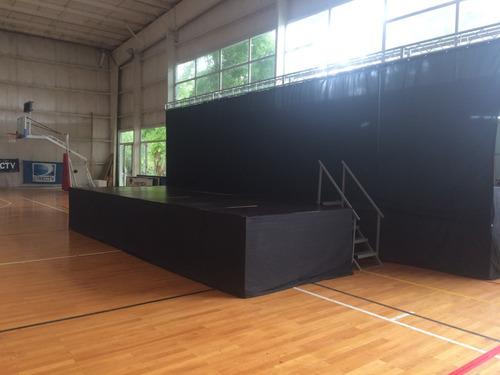 alquiler escenario tarima estructuras show eventos la plata