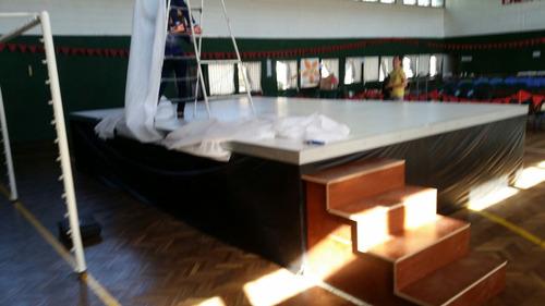 alquiler escenarios, tarimas, pisos, stand, montaje