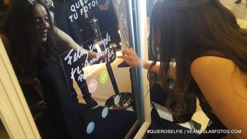 alquiler espejo magico #quieroselfie & fotocabina inflable