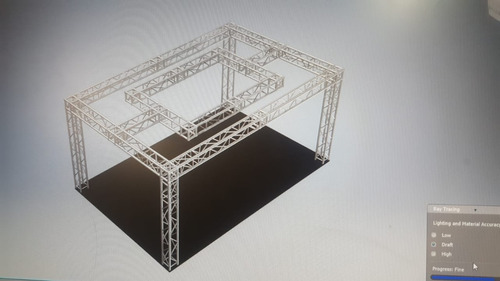 alquiler estructuras truss para stands, eventos