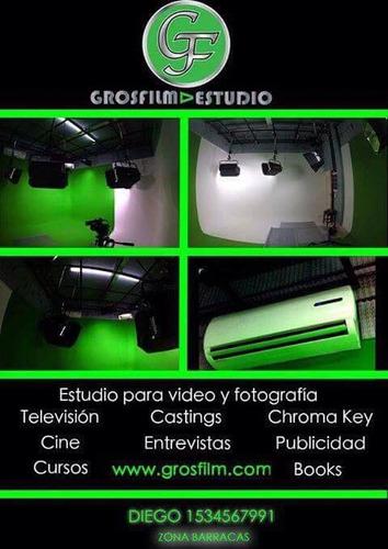 alquiler estudio croma key filmación fotografía tv cine