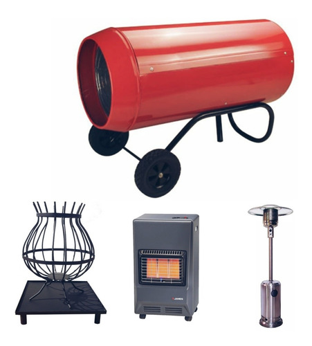 alquiler estufa hongo calor gas calefactor sombrilla puff