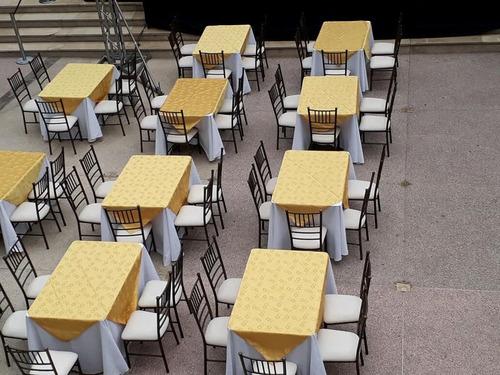 alquiler evento sillas tyfani mesas carpas cocteleras