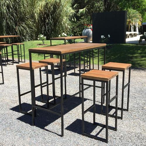 alquiler eventos mesas sillas barriles barras madera hierro