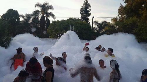 alquiler fiesta de espuma //nieve