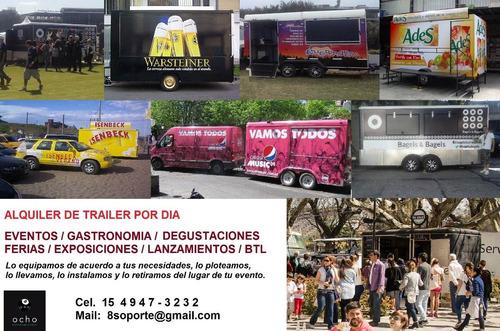 alquiler food truck trailers eventos gastronomía publicidad