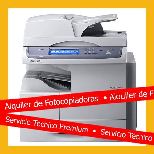 alquiler fotocopiadora samsung incluye insumos y respuestos