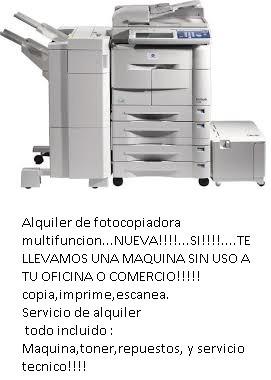alquiler fotocopiadoras impresoras