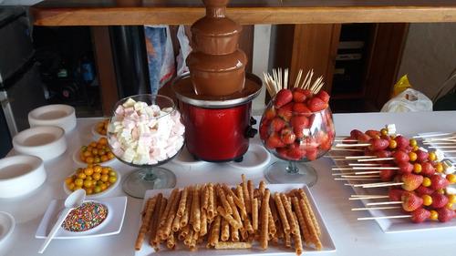 alquiler fuente chocolate coctelera bodas 15 años bautizos