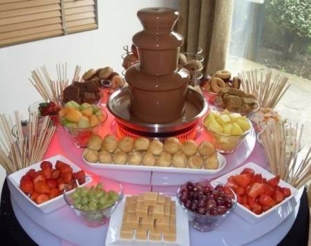 alquiler fuente de chocolate 4 niveles, en bogotá