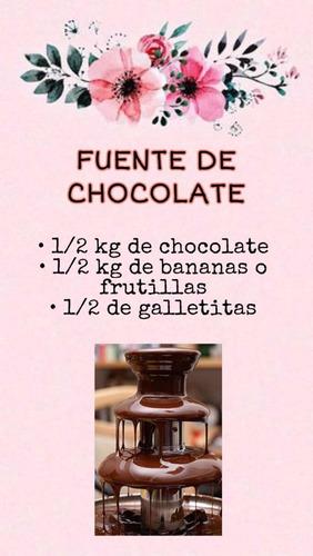 alquiler fuente de chocolate
