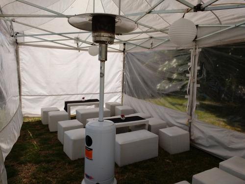 alquiler  gazebo living silla puff flet s/cargo*zona oeste