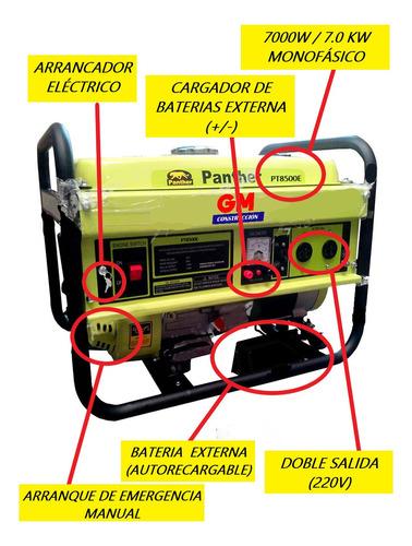 alquiler generador electrico 7000w phanter - monofásico