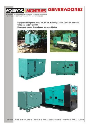 alquiler generadores y compresores