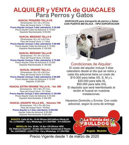 alquiler guacales para perros y alquiler guacal colombia