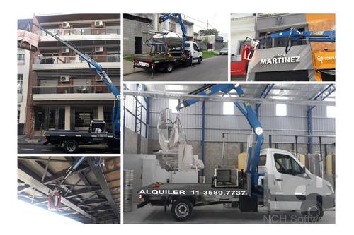 alquiler hidrogrua grua camion fletes transporte de maquinas
