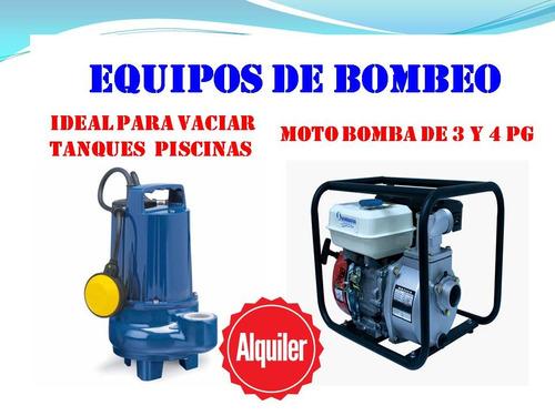 alquiler hidrolimpiadora a gasolina hidrojet