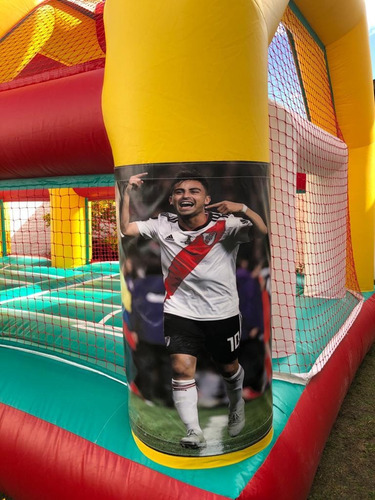 alquiler inflable cancha boca y river