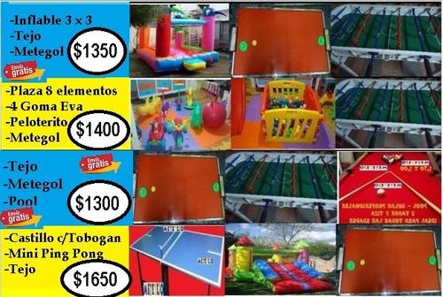 alquiler inflable ring plaza blanda tejo metegol envio gra!!