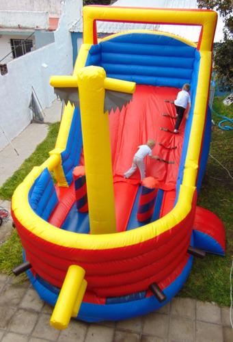 alquiler inflables barco pirata castillo isla / zona norte
