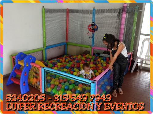 alquiler inflables cali piscina de pelotas recreacionistas