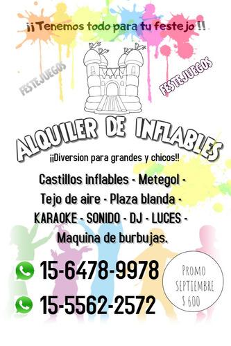 alquiler inflables plaza blanda