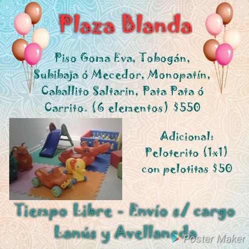 alquiler inflables plaza blanda metegol tejo living
