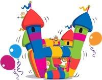 alquiler inflables !!!promo!!! castillo + metegol $ 550.