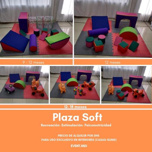 alquiler inflables zona norte, pelotero, plaza blanda, puffs