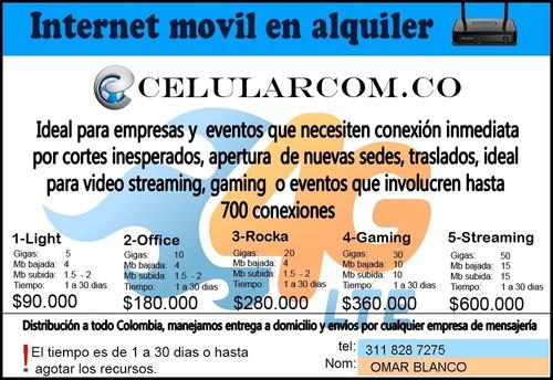 alquiler internet móvil modem arriendo para empresas eventos