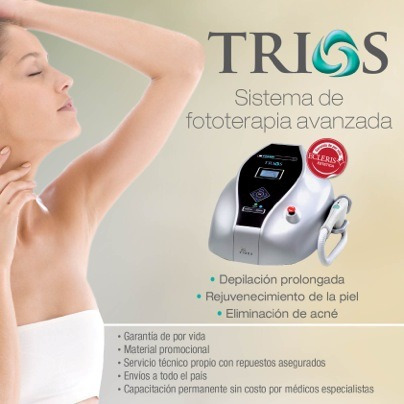 alquiler ipl trios  ecleris - rejuvenecimiento / depilación