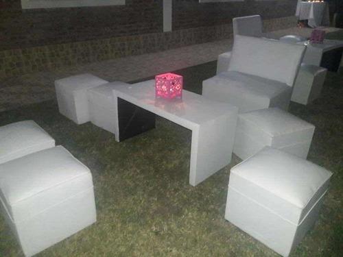 alquiler juego de living, gazebos, mesas, sillas, vajilla