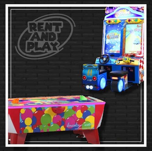 alquiler juegos arcades consolas tejo sillones masajeadores