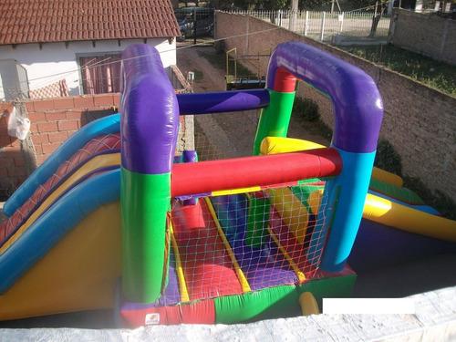 alquiler juegos infantiles inflables doble tobogán 7.5m