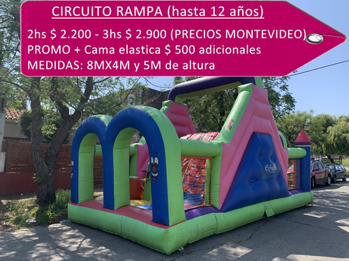 alquiler juegos inflables, mini samba,toro, surf, cama