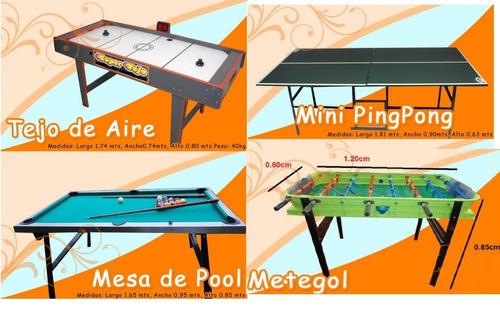 alquiler juegos pool tejo ping pong metegol puff livings